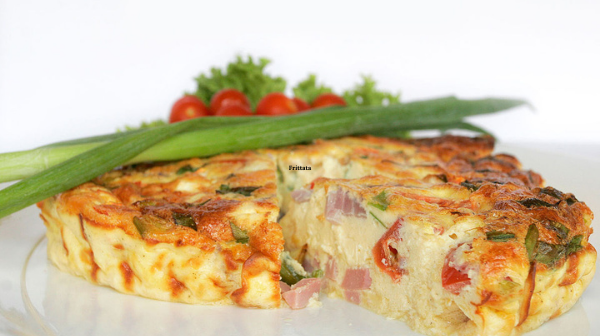 Frittata with Spinach, Zucchini, Onion, and Fresh Herb