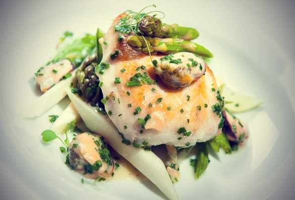 Haddock Fillet with Asparagus